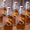 Personalized Glass Flasks for Groomsmen - Set of 5-Modern-