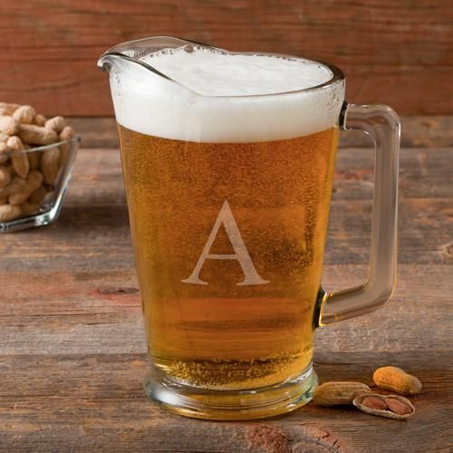 Personalized 60 oz. Glass Beer Pitcher