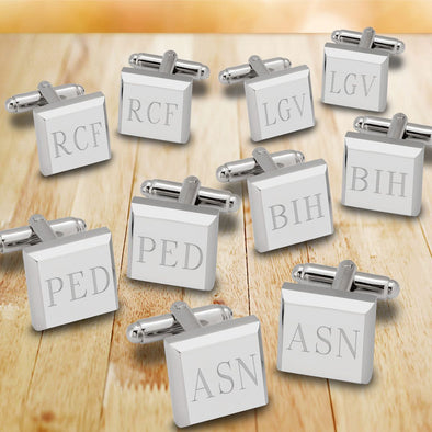 Modern Square Cuff Links - Set of 5-