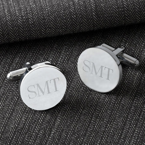 Personalized Classic Round Cufflinks-Groomsmen Gifts