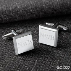 Engraved Black Leather Wallet & Cufflinks Gift Set-Groomsmen Gifts