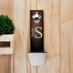 Personalized Monogrammed Wall Mounted Bottle Opener-Groomsmen Gifts