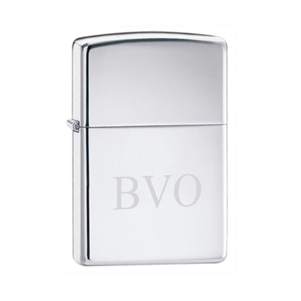 Personalized Lighters - Zippo - High Polish Chrome - Groomsmen Gifts