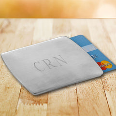 Personalized Stainless Steel Card Holder-Groomsmen Gifts