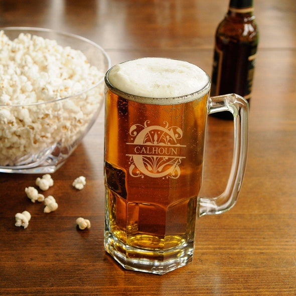 Personalized Beer Mugs - Monster - Groomsmen Gifts - 32 oz.-Filigree-