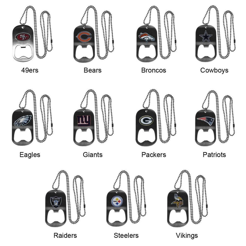 Personalized NFL Bottle Opener Necklace