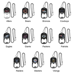 Personalized NFL Bottle Opener Necklace-Groomsmen Gifts