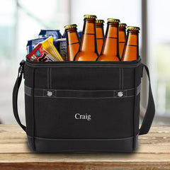 Groomsmen 12-Pack Trail Cooler With Built-In Bottle Opener Black