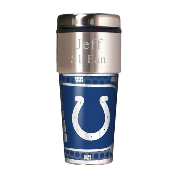 Personalized NFL Travel Tumbler - Insulated NFL Tumbler-Colts-