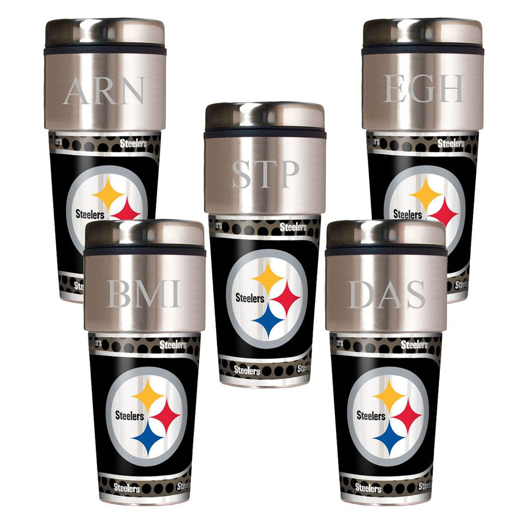 Personalized Set of 5 NFL Travel Tumbler - NFL Insulated Tumblers