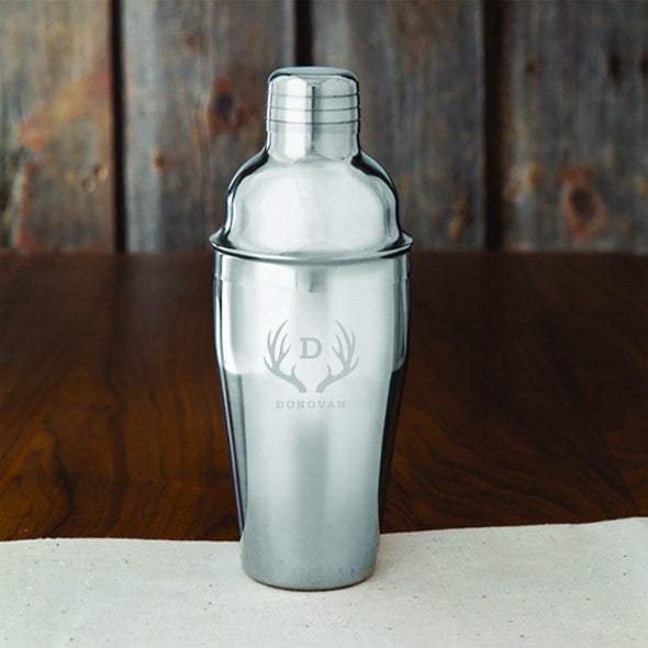 Groomsmen Personalized 20 oz. Stainless Steel Cocktail Shaker-Bar Accessories-JDS-Antlers-
