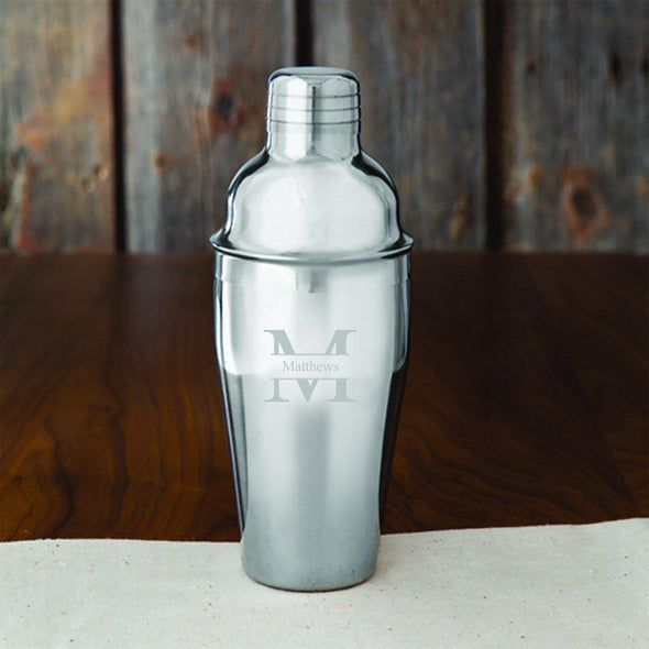 Groomsmen Personalized 20 oz. Stainless Steel Cocktail Shaker-Bar Accessories-JDS-Stamped-