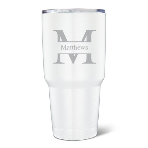 Personalized Húsavík 30 oz. White Double Wall Insulated Tumbler-Groomsmen Gifts