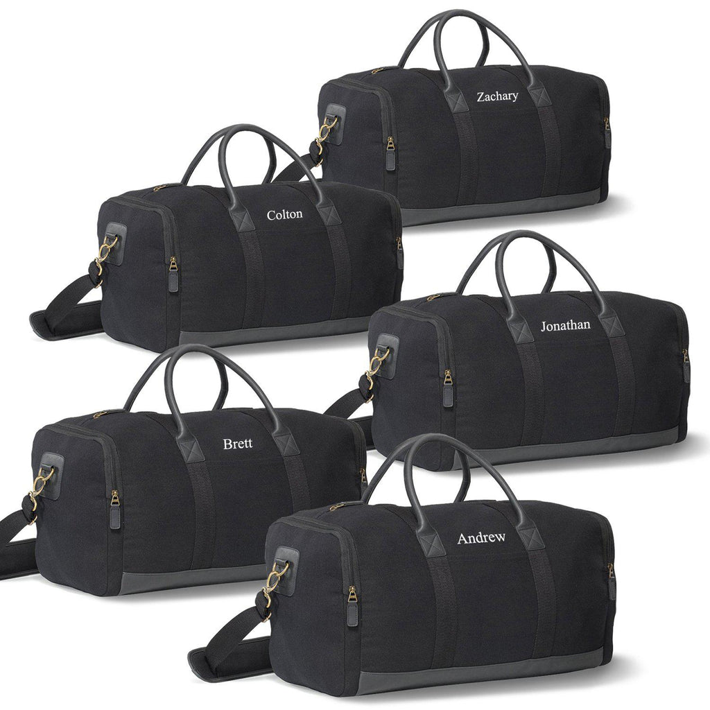 Personalized Canvas Supply Weekender Duffel Bags - Set of 5 Bags