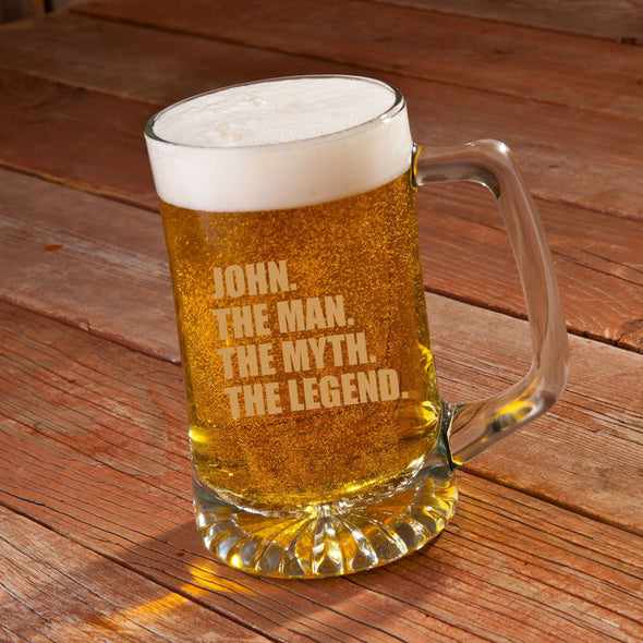 Personalized Beer Mugs - Sports Mug - Glass - Groomsmen - 25 oz.-