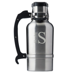 Stainless Silver Monogrammed Drinktanks 64 oz. Insulated Growler-Groomsmen Gifts
