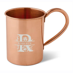 Personalized 16 oz. Classic Copper Moscow Mule Mug-Filigree-