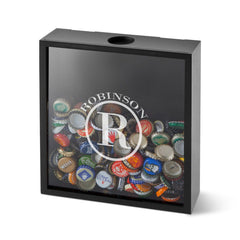 Personalized Shadow Box - Beer Bottle Cap Display - Groomsmen Gifts-Circle-
