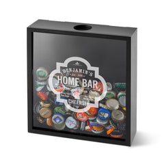 Personalized Shadow Box - Beer Bottle Cap Display - Groomsmen Gifts-HomeBar-