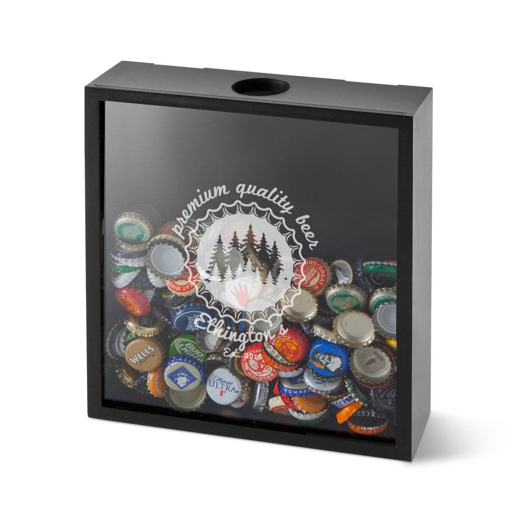 Personalized Beer Bottle Cap Shadow Box Display