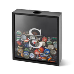 Personalized Shadow Box - Beer Bottle Cap Display - Groomsmen Gifts-Stamped-
