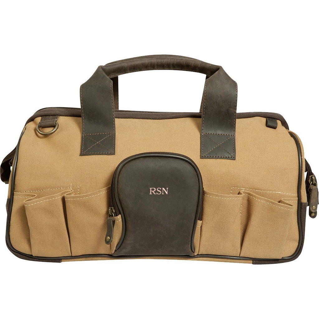 Personalized Borello Leather & Canvas Tool Bag