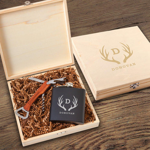 Irvine Groomsmen Flask Gift Box Set-Groomsmen Gifts