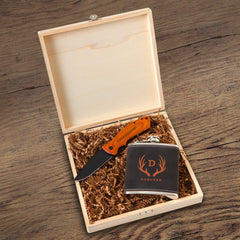 Kinross Groomsmen Flask Gift Box Set-Antler-