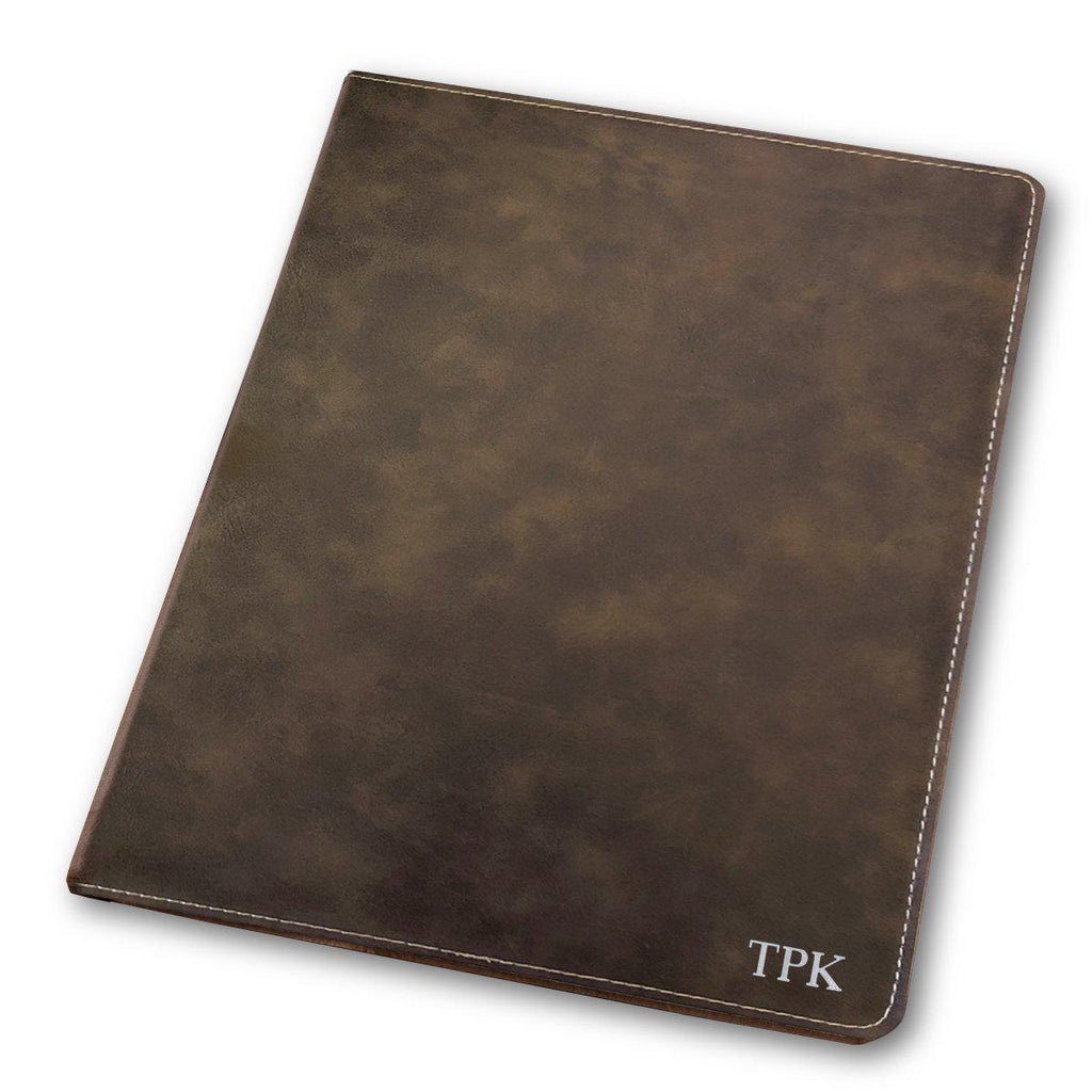 Personalized Rustic Portfolio with Notepad for Groomsmen