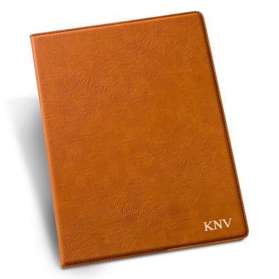 Personalized Rawhide Portfolio with Notepad for Groomsmen-Gold-