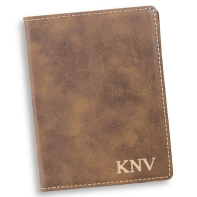 Rustic Personalized Passport Holder-Gold-
