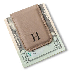 Magnetic Money Clip-Light Brown-