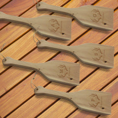 Personalized Cedar BBQ Scraper - Set of 5-Outdoors-JDS-Antlers-