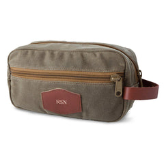 Men's Waxed Canvas Travel Bag for Groomsmen - Field Tan-Travel Gifts-JDS-