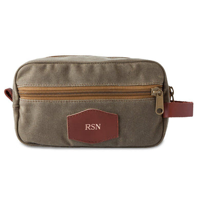 Men's Waxed Canvas Travel Bag for Groomsmen - Field Tan-Travel Gifts-JDS-RoseGold-