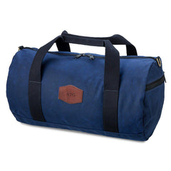 Personalized Waxed Canvas Groomsmen Duffle Bag - Blue-Travel Gifts-JDS-