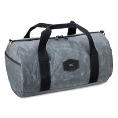 Duffle Bag for Groomsmen - Waxed Canvas - Charcoal-Groomsmen Gifts