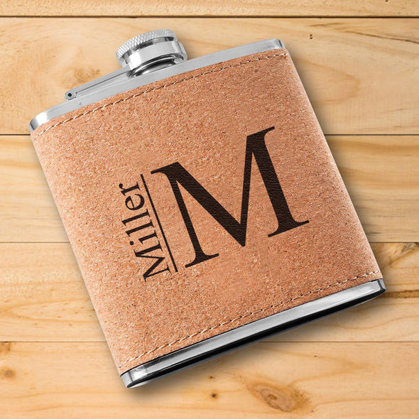 Personalized Flask - Cork - Groomsmen-Modern-