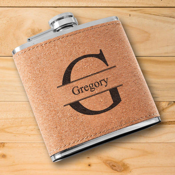 Personalized Flask - Cork - Groomsmen-Stamped-