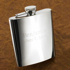 Personalized Flasks - Set of 5 - High Polish - 7 oz. - Groomsmen Gifts-