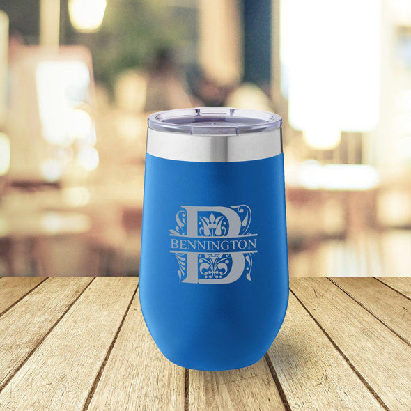 Personalized Blue 16 oz. Travel Tumbler