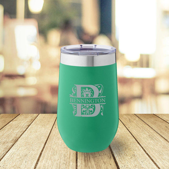 Personalized Green 16 oz. Travel Tumbler