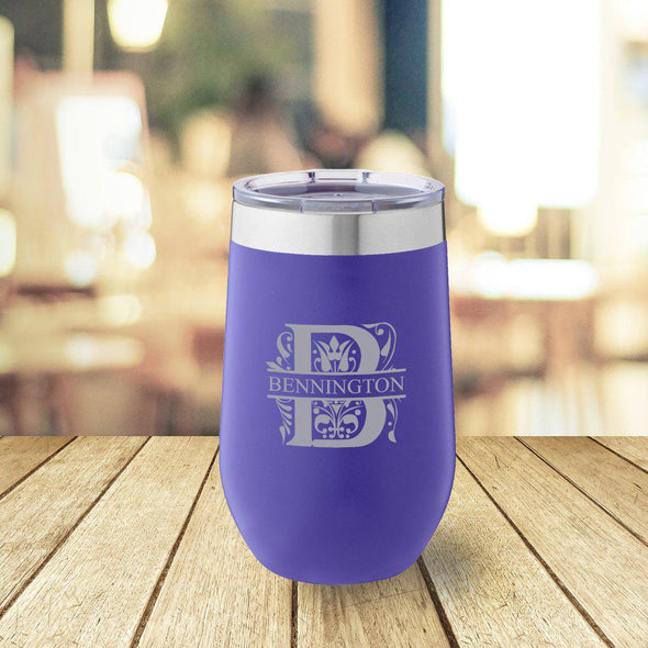 Personalized Purple 16 oz. Travel Tumbler