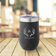 Personalized Black 16 oz. Travel Tumbler