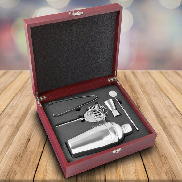 Personalized Martini Gift Set - Rosewood