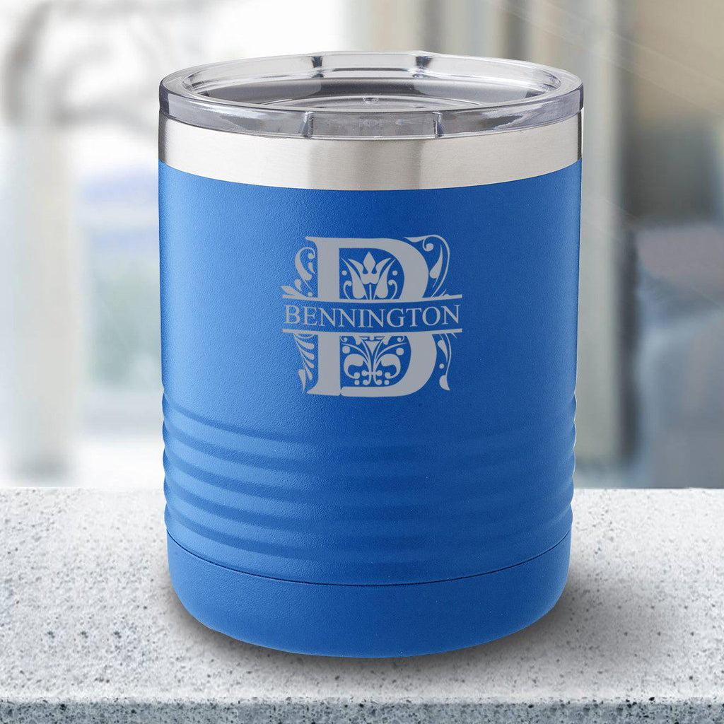 Personalized 10 oz. Royal Blue Travel Tumbler