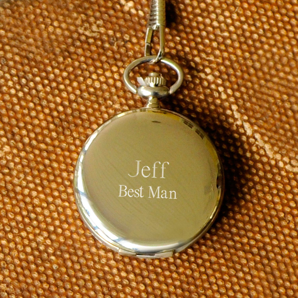 Set of 5 Personalized High Polish Groomsmen Pocket Watch