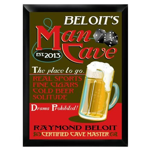 Personalized Mancave Traditional Bar Sign-Groomsmen Gifts
