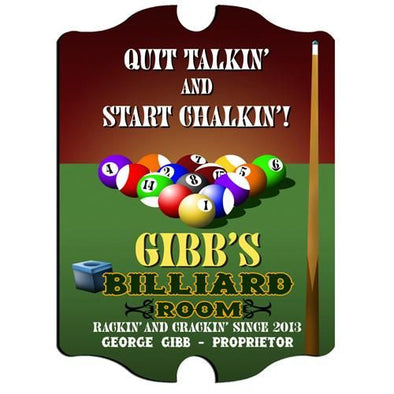 Personalized Bar Signs - Man Cave Signs - Billiards - Groomsmen Gifts-Default-