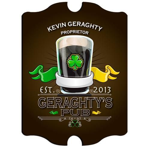 Personalized Bar Signs - Man Cave Signs - Irish - Groomsmen Gifts